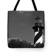 Black And White On Black Tote Bag