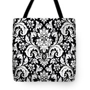 Black And White Paisley Pattern Vintage Tote Bag
