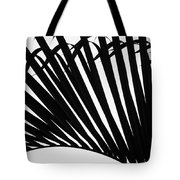 Black And White Palm Branch Tote Bag