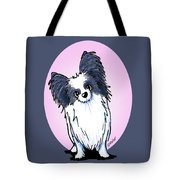 Black And White Papillon Tote Bag