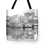Black And White Party Boat Tote Bag