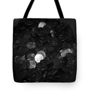 Black And White Pennies Tote Bag