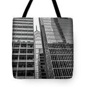Black And White Philadelphia - Skyscraper Reflections Tote Bag