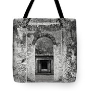 Black And White Photograph Beaufort Historic Church - Chapel Of The Ease Tote Bag
