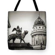 Black And White Photography - Berlin - Gendarmenmarkt Square Tote Bag