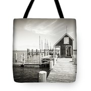 Black And White Photography - Martha's Vineyard - Black Dog Wharf Tote Bag