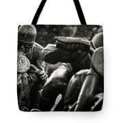 Black And White Photography - Motorcyclists Tote Bag