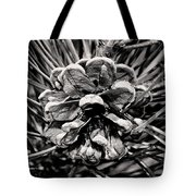 Black And White Pine Cone Wall Art Tote Bag