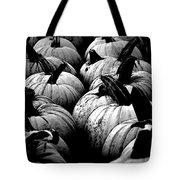 Black And White Pumpkins Tote Bag