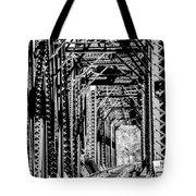 Black And White Railroad Tote Bag