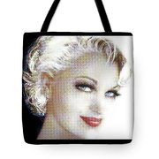 Black And White Red Lips Tote Bag
