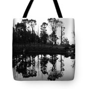 Black And White Reflected Tote Bag