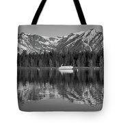 Black And White Reflection On Jackson Lake Wyoming Tote Bag