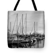 Black And White Reflections Tote Bag