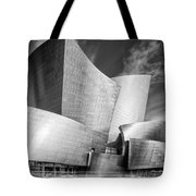 Black And White Rendition Of The Walt Disney Concert Hall - Downtown Los Angeles California Tote Bag