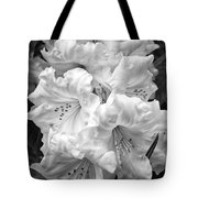 Black And White Rhododendron Tote Bag