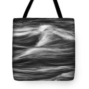 Black And White River Water Abstract  Tote Bag