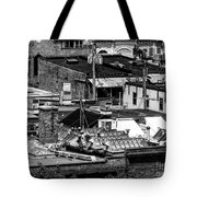 Black And White Rooftops Tote Bag