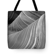 Black And White Sandstone Waves Tote Bag