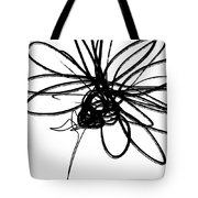Black And White Sketch Flower 4- Art By Linda Woods Tote Bag
