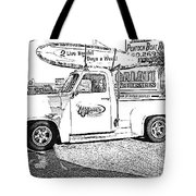 Black And White Sketch Truck Tote Bag