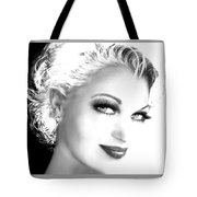 Black And White Smile Tote Bag