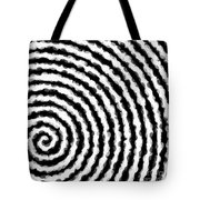 Black And White Spiral Tote Bag