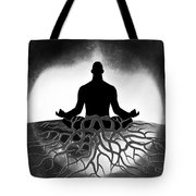 Black And White Spiritual Grounding Tote Bag