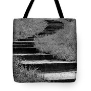 Black And White Steps Tote Bag