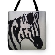 Black And White Stripes Tote Bag