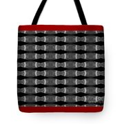 Black And White Stripes Tote Bag
