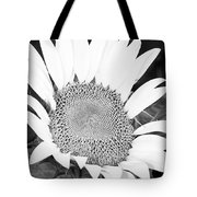Black And White Sunflower Face Tote Bag