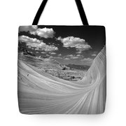 Black And White Swirling Landscape Tote Bag