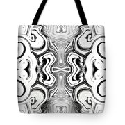 Black And White Symmetry   Tote Bag