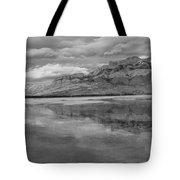 Black And White Talbot Lake Sunset Tote Bag