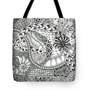 Black And White Tangle Art Tote Bag