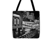 Black And White Tea Party Tote Bag