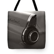 Black And White Thunderbird Tail Fin Tote Bag
