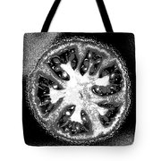 Black And White Tomato Tote Bag