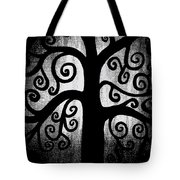 Black And White Tree Tote Bag