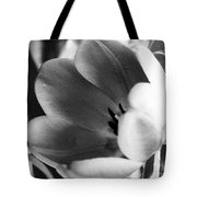 Black And White Tulips #1 Tote Bag