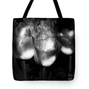 Black And White Tulips Tote Bag