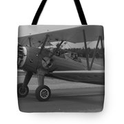 Black And White Us Aircraft Tote Bag