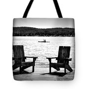 Black And White View Tote Bag