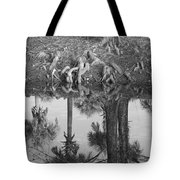 Black And White Water Reflections Tote Bag