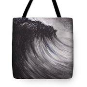 Black And White Wave Guam Tote Bag