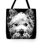 Black And White West Highland Terrier Dog Art Sharon Cummings Tote Bag