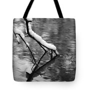 Black And White Winter Mood Tote Bag