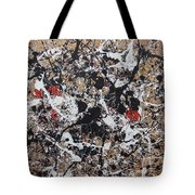 Black And White With Red And Gold Tote Bag