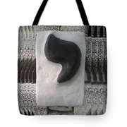 Black And White Yod Tote Bag